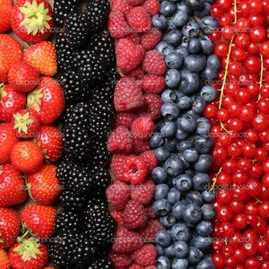 Fresh berry fruits background